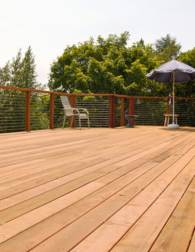 Deck with Cable Railing, Mill Valley - after 1