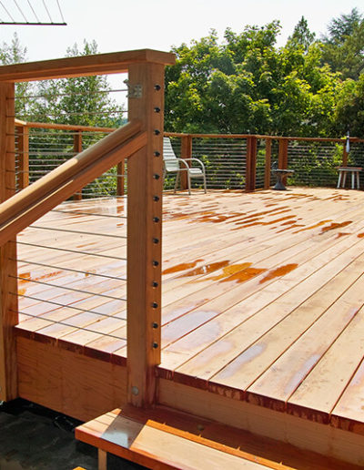 Deck with Cable Railing, Mill Valley - after 2