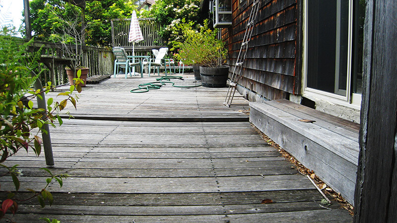 Deck with  Cable Railing, Mill Valley - before