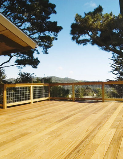 Deck with Hog Fence Railings,Mill Valley 1