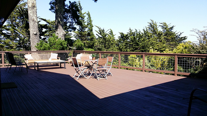 Deck with Hog Fence Railings, Mill Valley 2