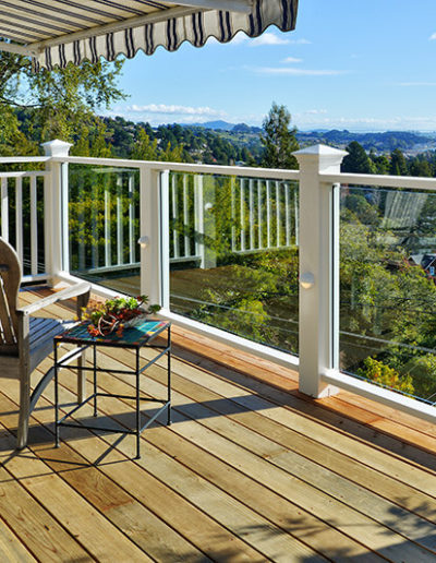 Decks with Glass & Wood Railings, Mill Valley 2