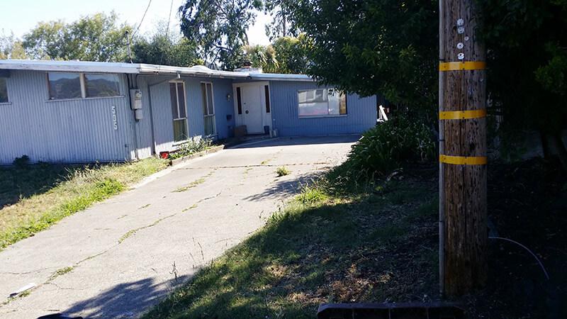 New Breezeway and Garage, San Rafael - before